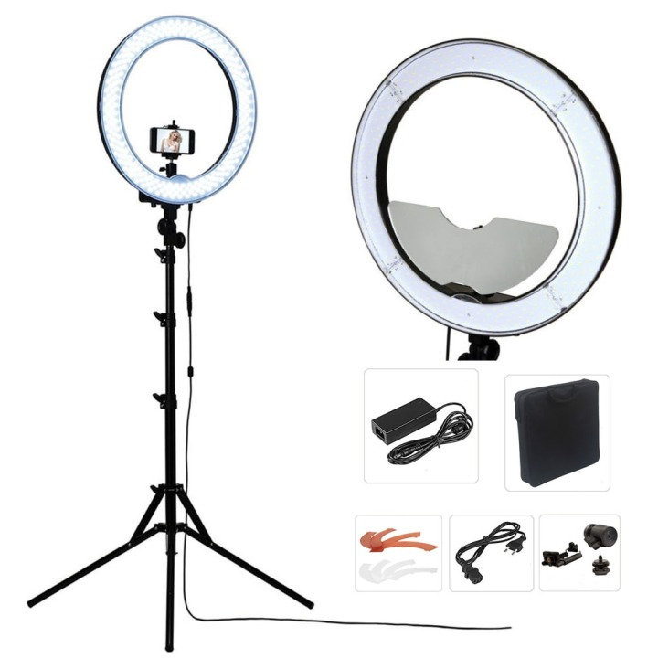 Studio-Dimmable-18-55W-5500K-LED-Camera-font-b-Mirror-b-font-Video-font-b-Ring