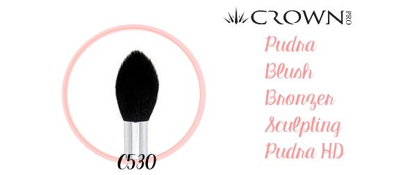 crown pro c530 amalia avram glamupdate pensule de pudra blush sculpting bronzer